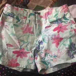 GAP girls shorts floral size 10